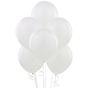 Воздушные шарики белый пастель - фото 1