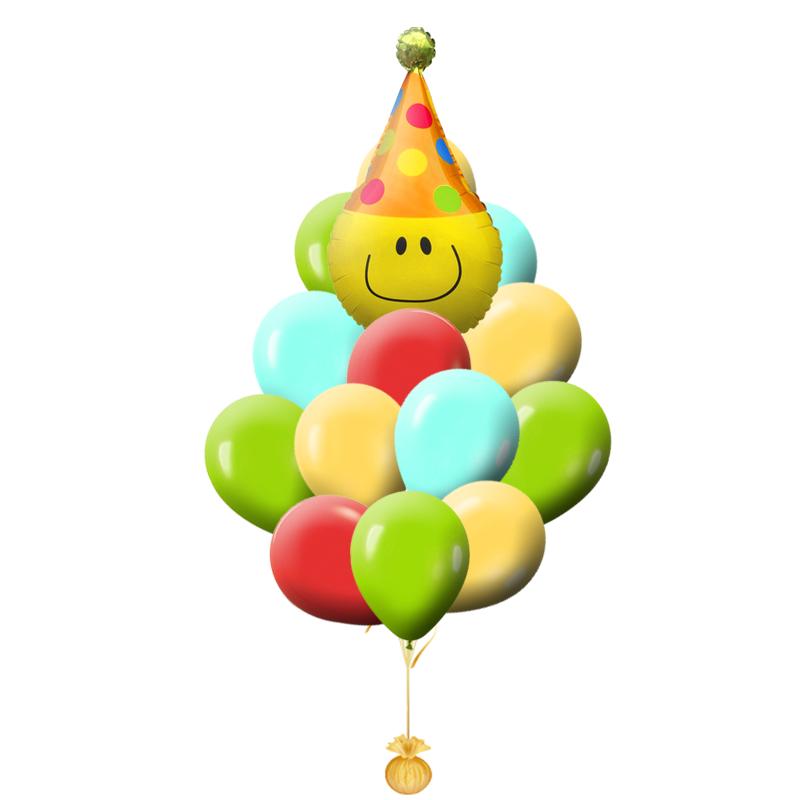 """Набор """"Яркие краски"""" из надувных шаров и фольгированной фигуры - фото 1"""