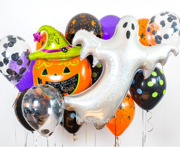 """Набор на Хеллоуин """"Привидение""""  из гелиевых надувных шариков - фото 1"""