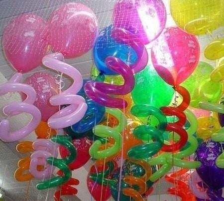 """Набор """"Лимонад"""" из 20 надувных шаров под потолок - фото 1"""