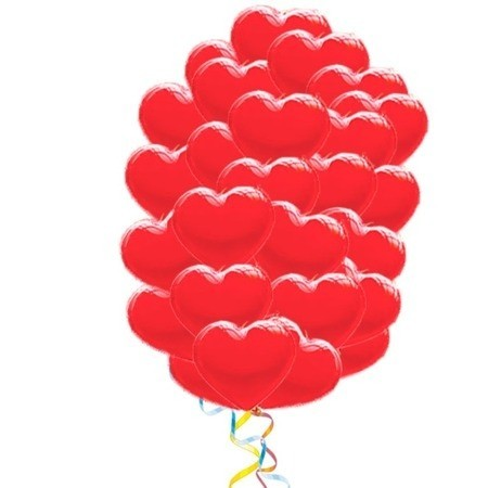 """Букет """"Облако любви"""" из 50 воздушных шаров в форме сердца - фото 1"""