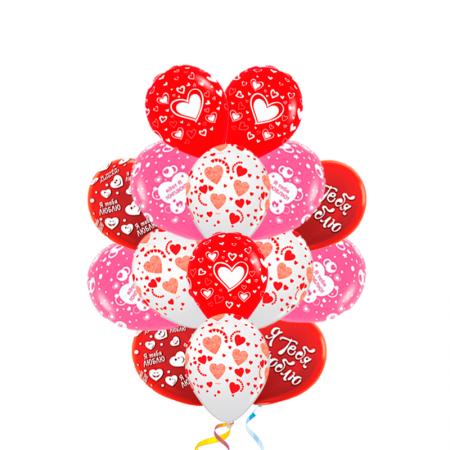 """Набор """"Пылкие чувства"""" из 30 шаров на 8 марта - фото 1"""