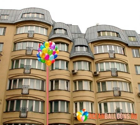 """Композиция из 50 воздушных шаров """"Сюрприз"""" - фото 1"""