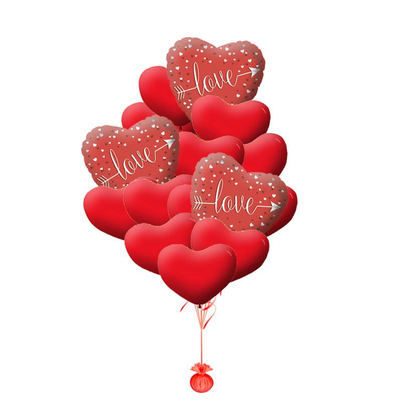 """Композиция """"Love"""" из надувных шариков в подарок любимому человеку - фото 1"""