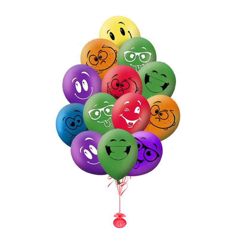 """Набор-поздравление """"Веселые друзья"""" из гелиевых надувных шариков - фото 1"""