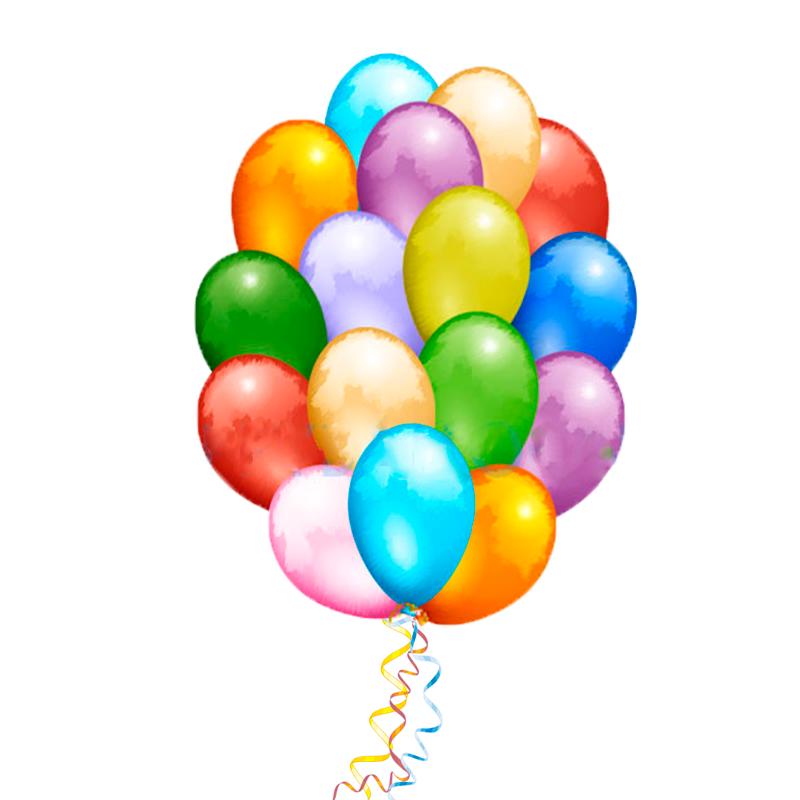 """Букет из 50 разноцветных шаров """"Микс цветов"""" - фото 1"""