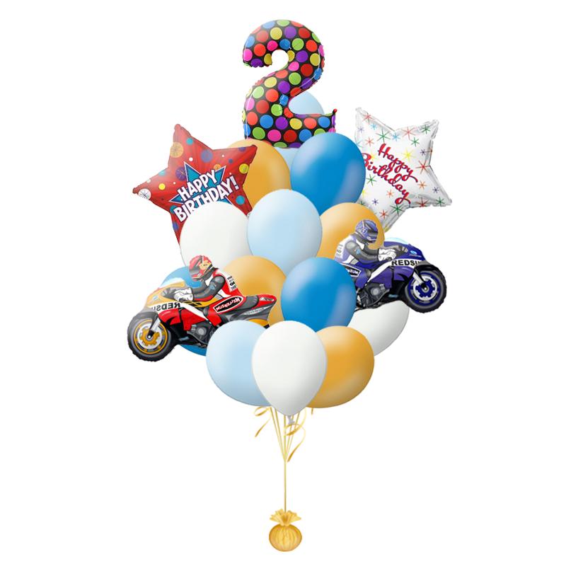 """Композиция """"Мотоциклы"""" с поздравлением на день рождения мальчику - фото 1"""