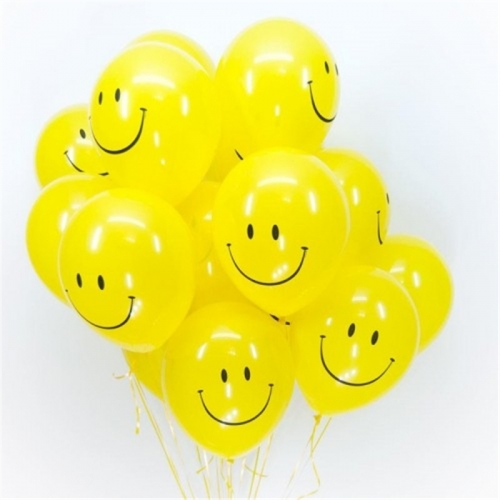 """Набор """"Солнечный смайл"""" из 50 воздушных шаров - фото 1"""