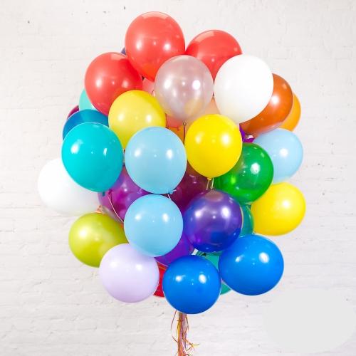 """Букет """"Микс"""" из 60 разноцветных шаров - фото 1"""