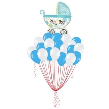 """Набор """"Мой малыш"""" на выписку из надувных шариков и фольгированной фигуры - фото 1"""