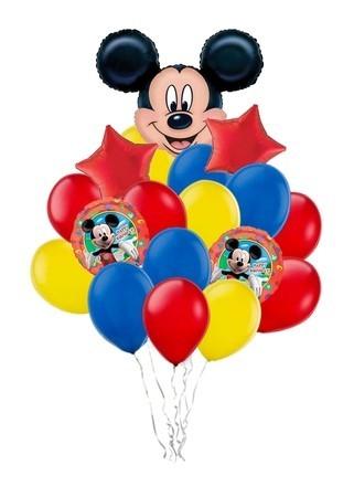 """Набор """"Микки"""" из разноцветных надувных шариков в подарок - фото 1"""