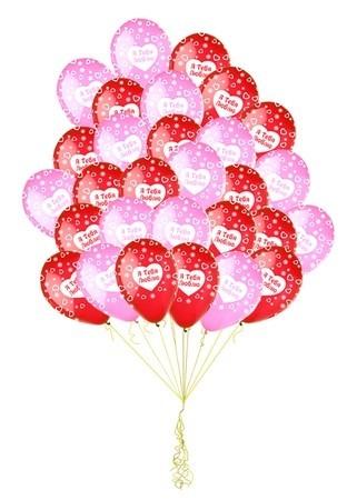 """Набор их 30 шаров """"Океан чувств"""" с признанием в любви - фото 1"""