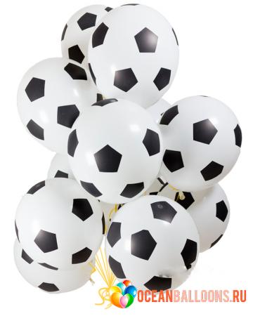 """Комплект """"Футбол"""" из 50 шариков в виде мяча болельщику - фото 1"""