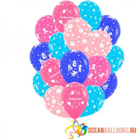 """Букет из 30 шаров """"Детская шалость""""  ребенку - фото 1"""