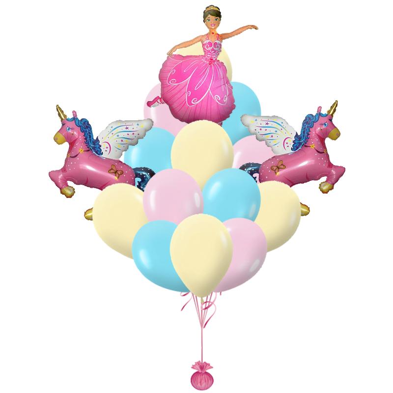 """Подарок """"Принцесса в розовом"""" девочке из 23 надувных шаров - фото 1"""