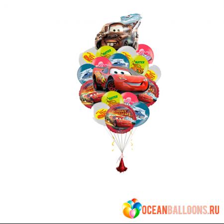 """Композиция """"Тачки"""" из гелиевых надувных шариков в подарок мальчику - фото 1"""