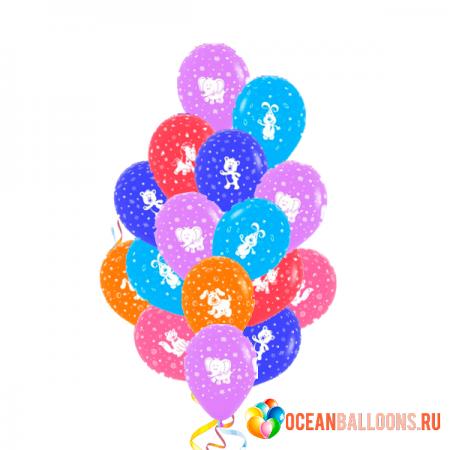 """Композиция """"Веселые животные"""" из 28 гелиевых шариков - фото 1"""