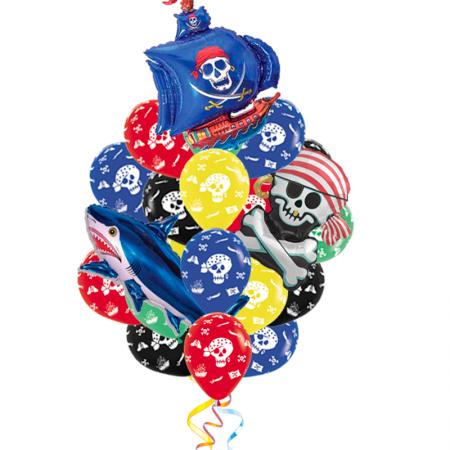 """Набор """"Пираты"""" с поздравлением мальчику из 18 надувных шаров - фото 1"""