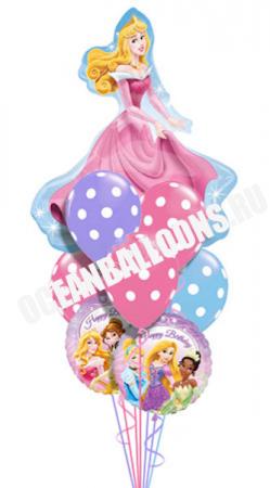 """Надувные шарики в букете """"Принцесса"""" в подарок на день рождения - фото 1"""
