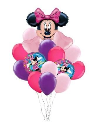 """Набор """"Минни"""" из гелиевых надувных шариков в подарок девочке - фото 1"""