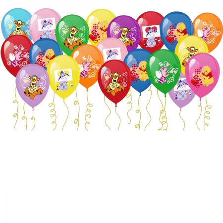 """Гелиевые цветные шары под потолок """"Винни-Пух"""" 100шт - фото 1"""