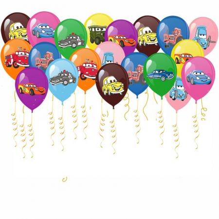 """Набор из 100 воздушных шаров """"Тачки"""" - фото 1"""