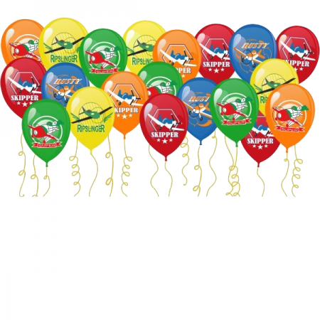 """Комплект """"Летучие Самолёты"""" из цветных шаров под потолок - фото 1"""