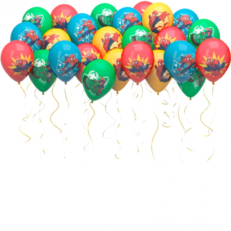 """Воздушные шарики """"Человек паук"""" 100 шт - фото 1"""