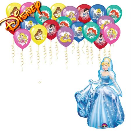 """Комозиция из шаров """"Поздравление от принцесс Диснея"""" - фото 1"""