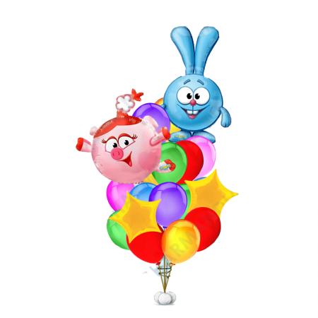 """Композиция из разноцветных шаров """"Смешарики"""" на праздник - фото 1"""