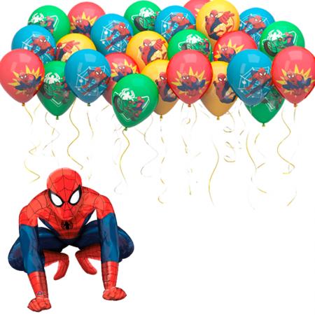 """Композиция """"Spider-Man"""" из фольгированной фигуры и шаров под потолок - фото 1"""