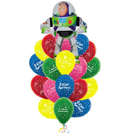 """Композиция-поздравление с днем рождения """"Баз Лайтер"""" из шариков - фото 1"""
