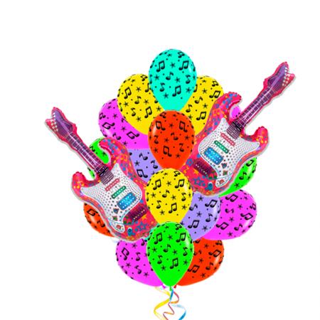"""Композиция """"Гитарист"""" из 17 гелиевых надувных шаров - фото 1"""