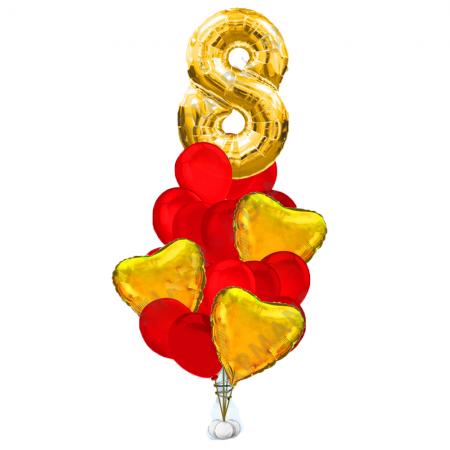 """Композиция """"Любимой"""" в подарок на 8 марта из воздушных шариков - фото 1"""