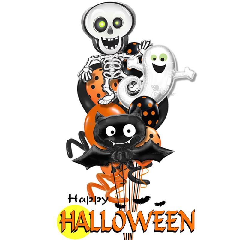 """Комплект на Хеллоуин """"Вечеринка"""" из фольгированных шариков - фото 1"""