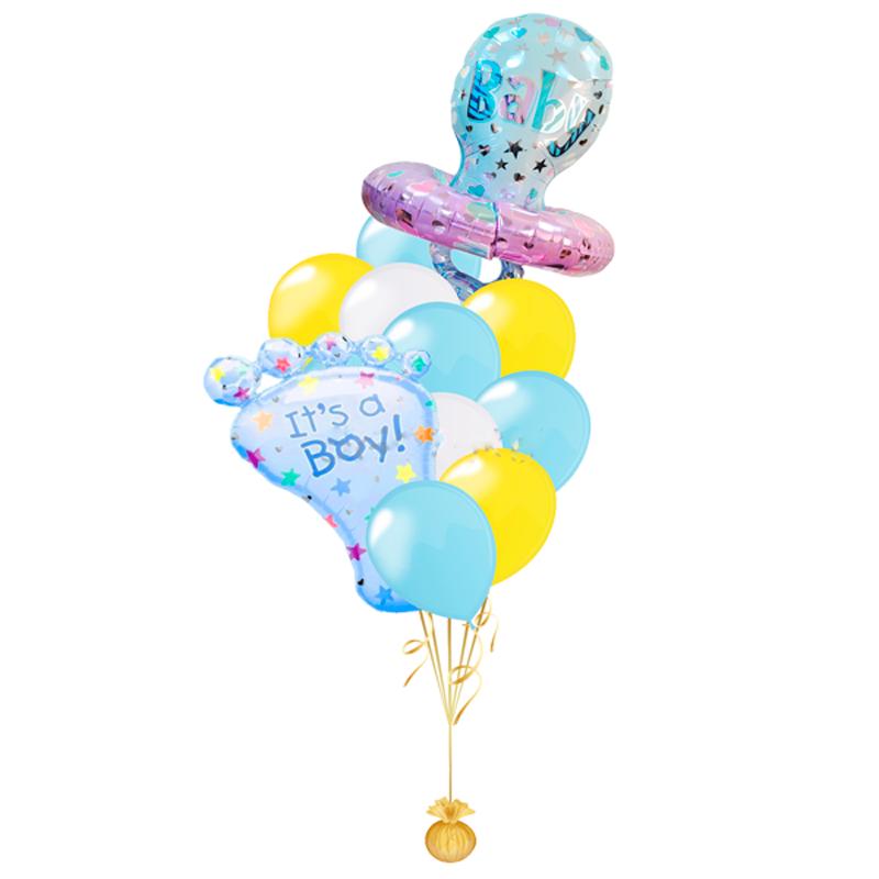 """Набор на выписку """"Сыночек"""" из 22 гелиевых надувных шариков - фото 1"""
