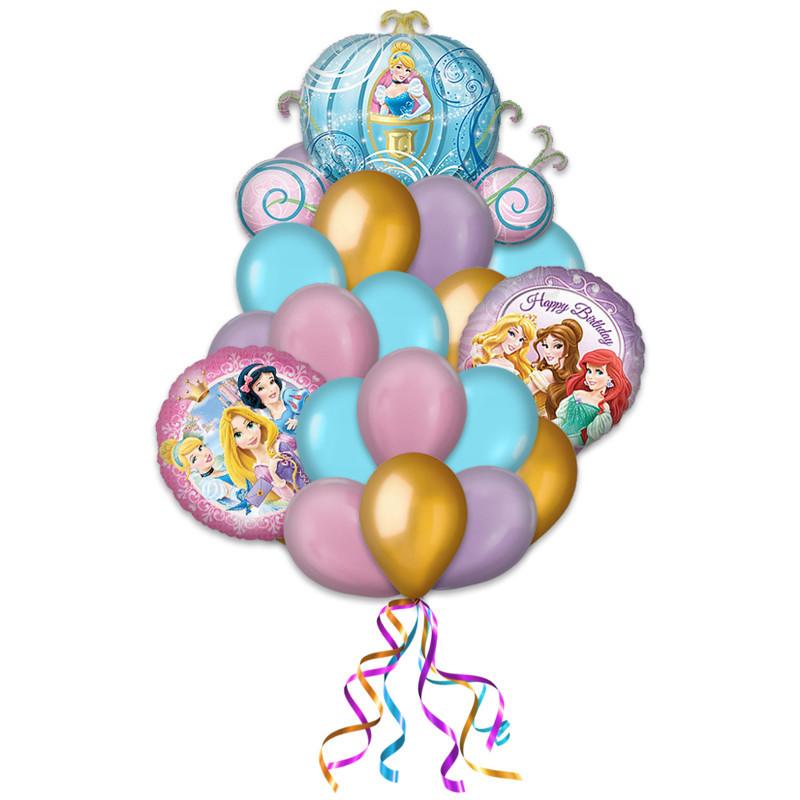 """Композиция-поздравление """"Принцессы"""" из гелиевых надувных шариков - фото 1"""