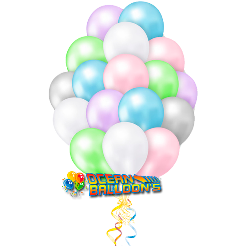 """Композиция """"Ассорти цветные"""" из 40 шаров в пастельных тонах - фото 1"""