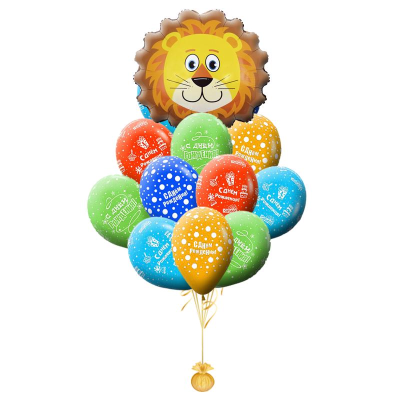 """Поздравительный букет """"Львенок"""" на день рождения ребенку - фото 1"""