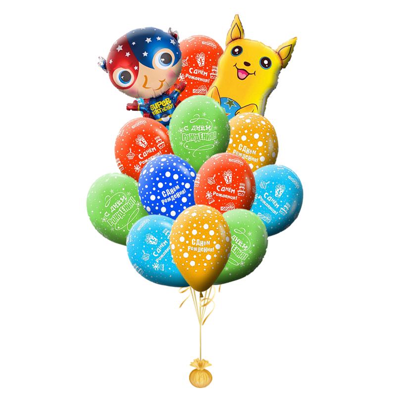 """Букет из гелиевых надувных шариков """"Покемон"""" в подарок - фото 1"""