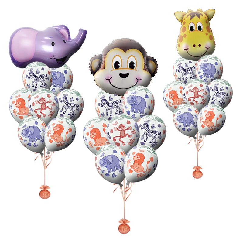"""Набор """"Зверята"""" из гелиевых надувных шариков  в подарок - фото 1"""