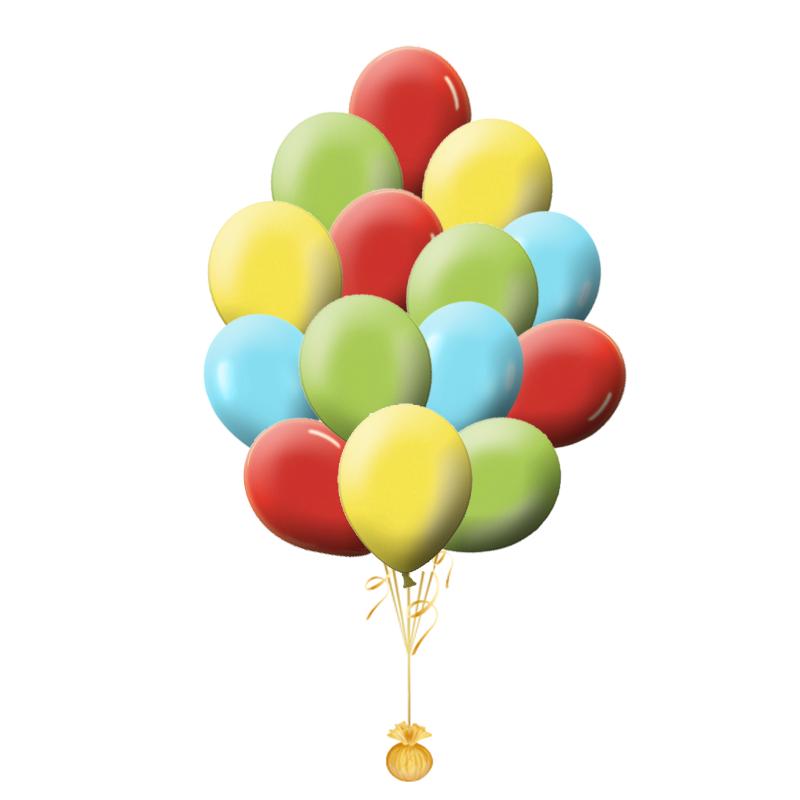 """Комплект """"Радужное небо"""" из 100 шаров ассорти - фото 1"""
