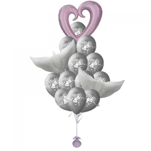 """Свадебный букет """"Жемчужина"""" из гелиевых надувных шаров - фото 1"""