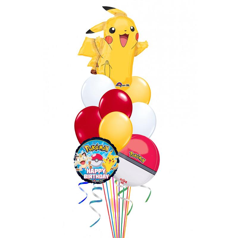 """Композиция-поздравление """"Озорной покемон"""" из 18 гелиевых надувных шаров - фото 1"""