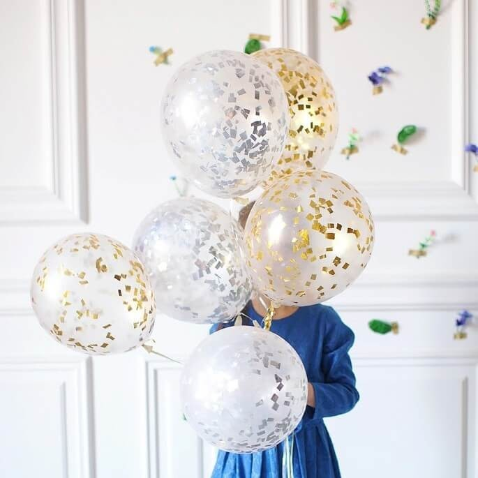 Гелиевые шарики с конфетти - фото 1