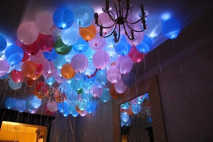 Цветные светящиеся шары под потолок Ассорти - фото 1