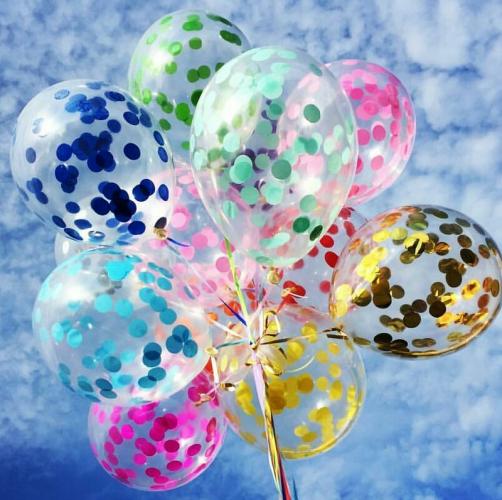 Прозрачные шары с конфетти Ассорти - фото 1