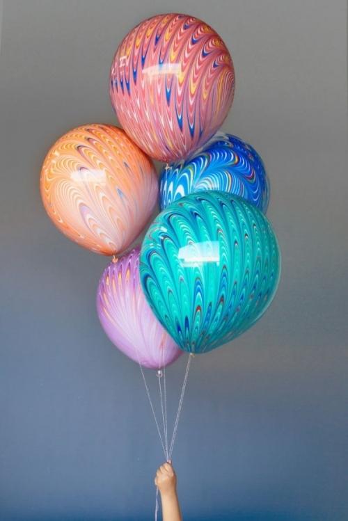 """Большие шары """"С разводами ассорти"""" - фото 1"""