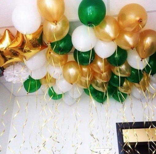 """Набор воздушных шаров """"Восход над полем"""" под потолок - фото 1"""