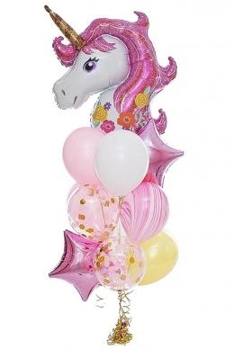 """Комплект шаров """"Розовый единорог"""" на детский праздник - фото 1"""